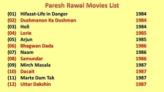 Paresh Rawal Movies List