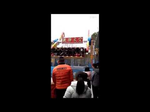 Gadis ini meninggal karena terlempar dari wahana bermain di chongqing china
