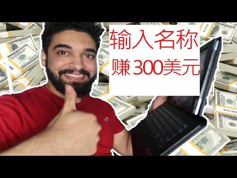 如何在家里在线输入名称赚钱? | 对于一个项目300美元(副标题点CC)
