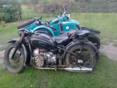 Motocykl M72 I Ural M63 Z Wózkiem Bocznym Youtube