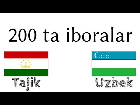 200 Ta Iboralar - Tojikcha - Oʻzbekcha