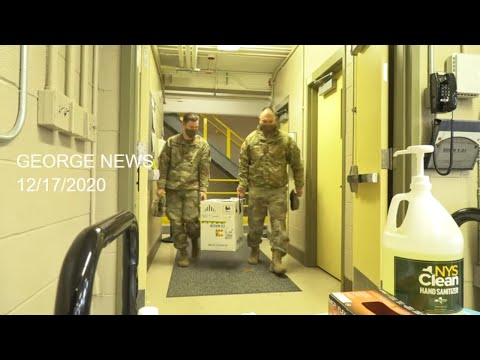 New York National Guard Soldiers Receive their First COVID-19 Vaccine Doses, Dec 17, 2020