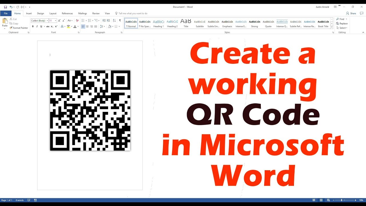 Create A Working QR Code In Microsoft Word