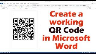 Microsoft Word Çalışan Bir QR Kod oluşturma