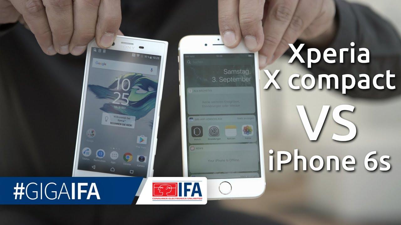 Vergleich sony xperia x compact und iphone se