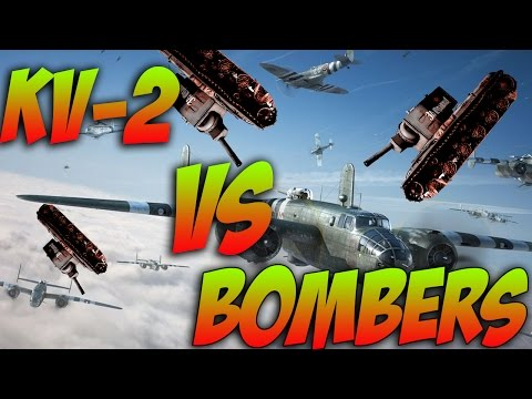 War Thunder Tanks! - KV-2 Anti AIR DEFENSE! War Thunder Ground Forces Gameplay