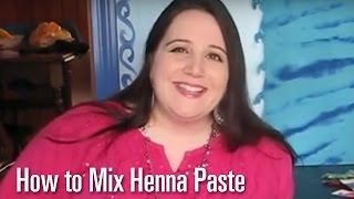 How To Mix Henna Paste : How to do henna tattoos  / mehndi body art