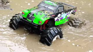 RC Car MUD OFF Road. Video for kids.