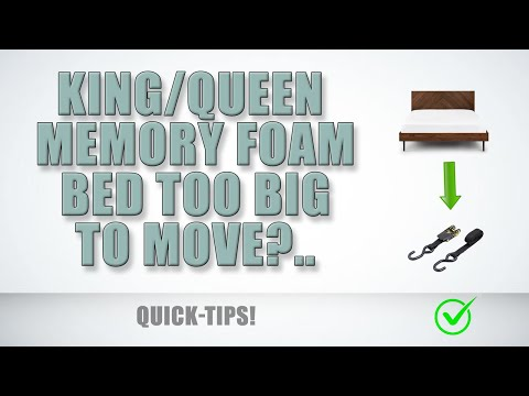 How To Get A KING Size Memory Foam Bed Up Or Down A Tight Stairwell After It's Taken It's Full Size