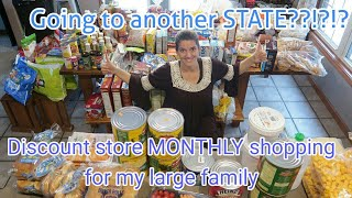 LARGE FAMILY DISCOUNT STORE SHOPPING.....in another STATE?!?!?!?