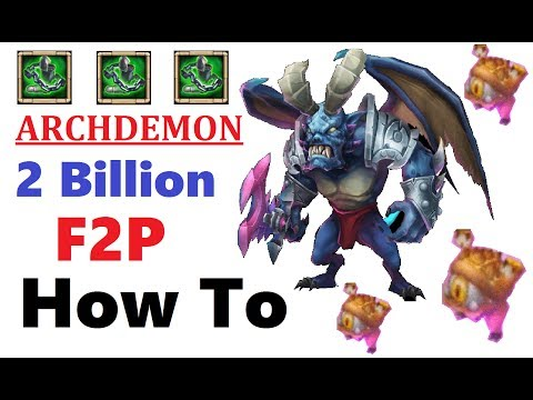 HOW TO: 2 Billion ARCHDEMON MAX Damage Castle Clash Guide MVZ Guide