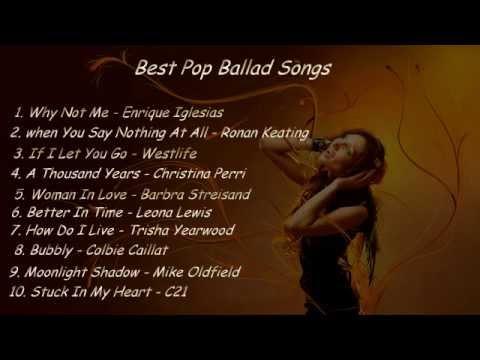 Best pop ballad songs