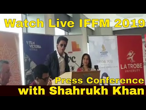 Live Indian Film Festival of Melbourne 2019 Press Conference - Shahrukh Khan Live in Australia