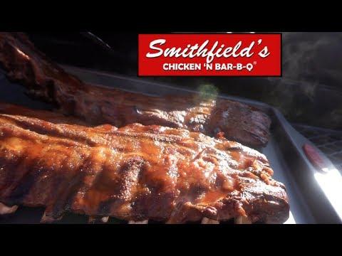 Smoked Baby Back Ribs With Smithfield's Chicken N' Bar-B-Q Sauce | Southern Smoke Boss