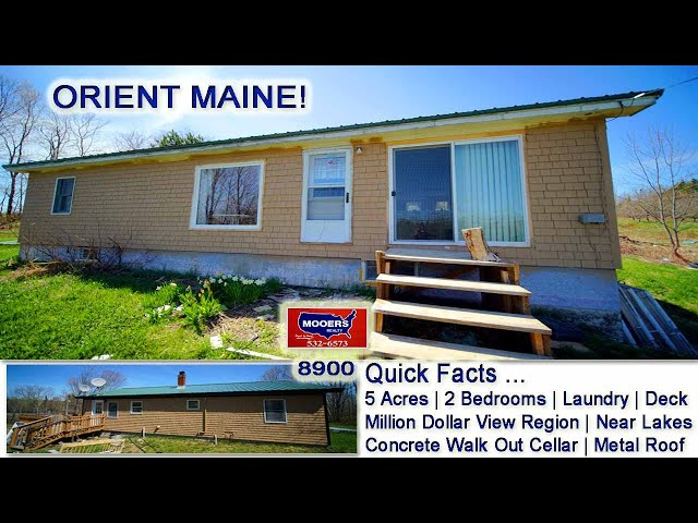 1678 US RT 1 Orient ME Ranch Home | Maine Real Estate MOOERS REALTY #8901