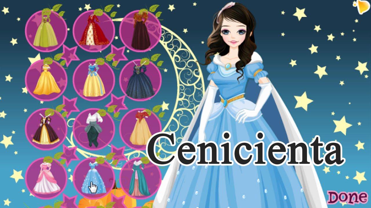 Princesa Cenicienta - Juegos de vestir princesas - YouTube