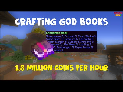 [Skyblock Stonks] Crafting God Sword Books? 1.8 Million Coins Per Hour!