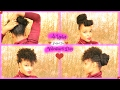 Quick and Easy Last Minute Valentine's Day/Date Night Hairstyles | Short/Medium Length Natural Hair