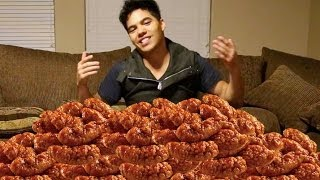 100 Chicken Wings In 10 Min Challenge!
