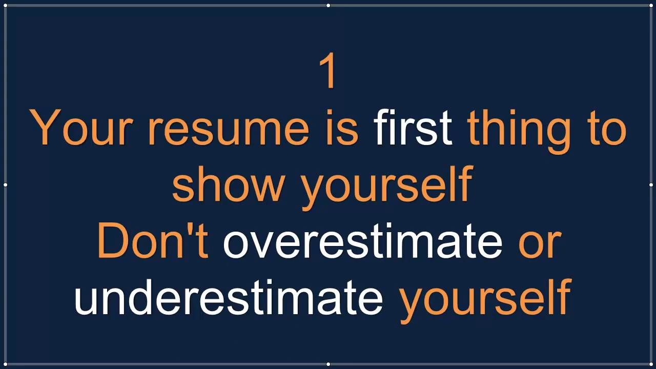 tips to write a perfect resume get a job now youtube