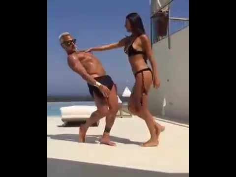 A Old Man Young Girl Are Dancing Youtube