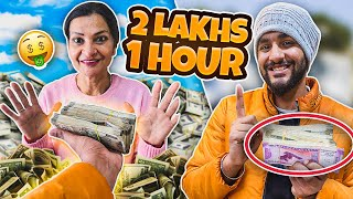 Giving my MOM RS 2,00,000 to spend in 1 Hour challenge !!