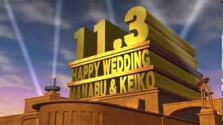 Repeat youtube video 結婚式オープニングビデオ素材 FOX風映画 素材A 4,990円
