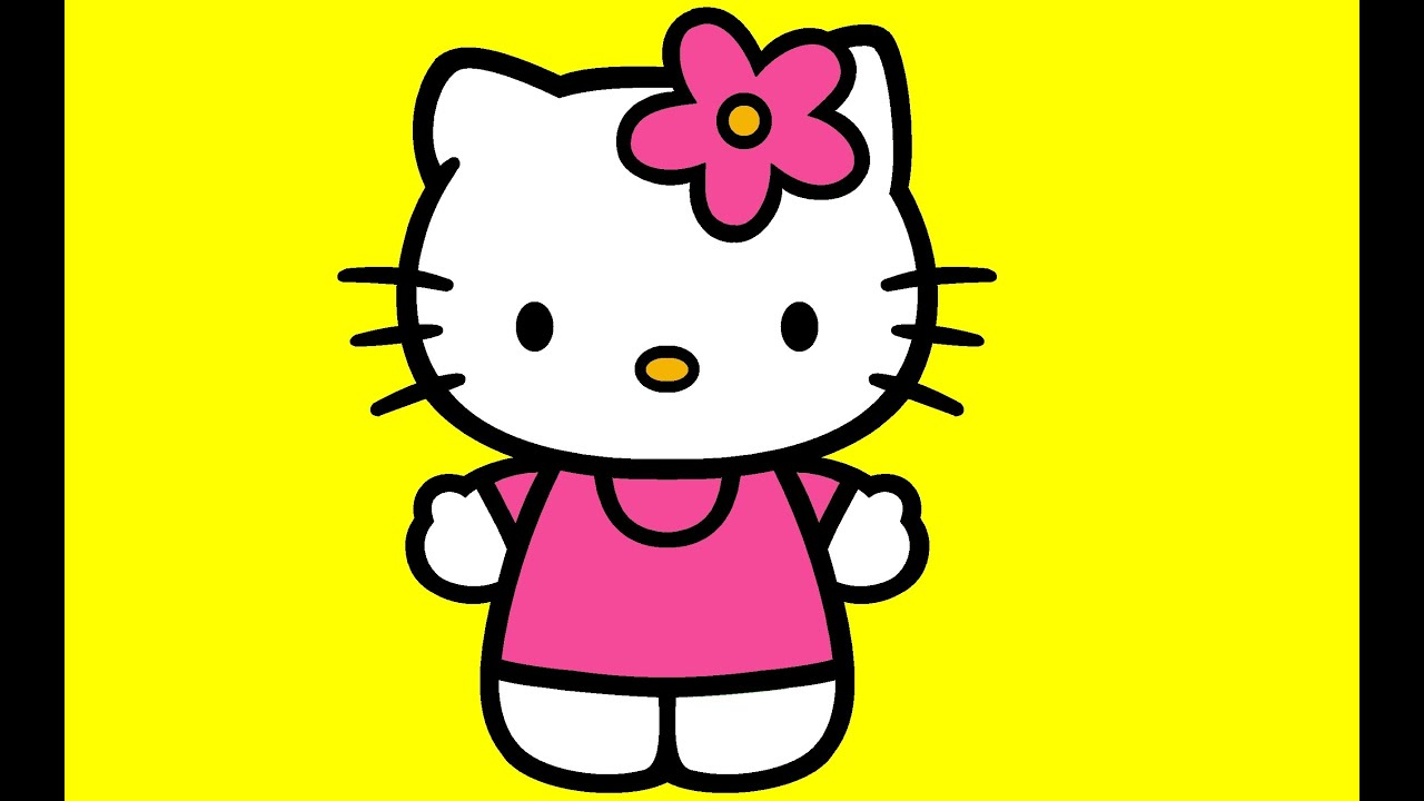 Coloring Hello Kitty Learn Color Youtube