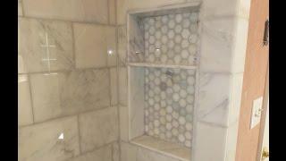 Marble Carrara Tile bathroom Part 4 Shower niche, a few tips