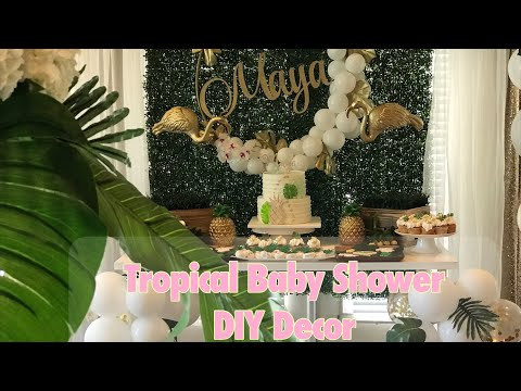 Aloha Baby| DIY Tropical themed baby shower
