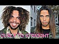 BEST Tutorial ! How To Straighten / Flat Iron Curly Hair With The Cloud 9 Straightener