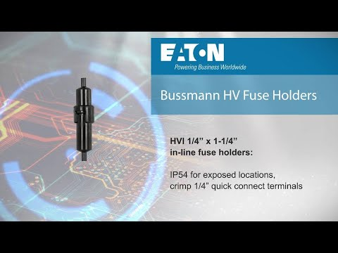 High voltage fuse holders from Eaton