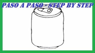 Como dibujar una Lata de Refresco paso a paso l How to draw a Soda step by step