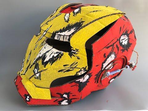 DIY Helmet Iron Man - Cardboard build