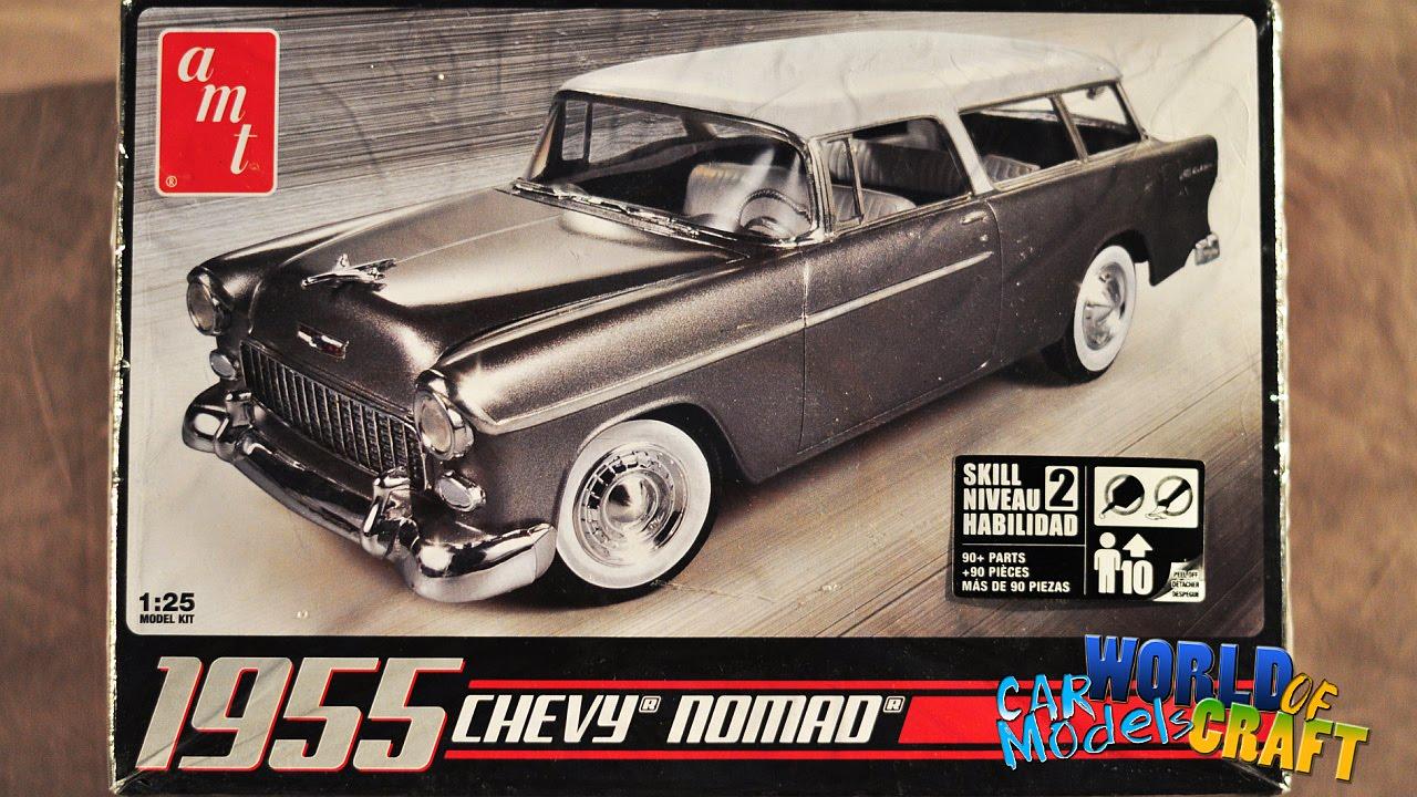 Chevrolet nomad 1955 amt model kit 1 25 scale unboxing