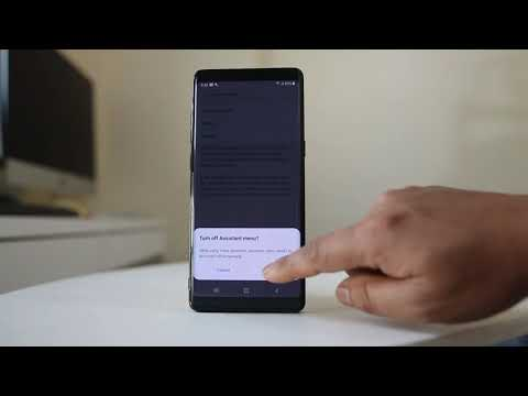 How to disable voice assistant on samsung s8/s9/note8/note 9