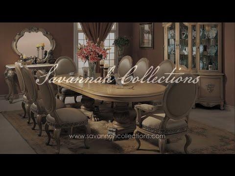 French Dining Room Collection in Antique Bisque by Savannah Collections - Century Furniture