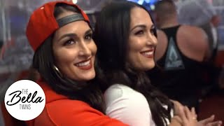 READY FOR ACTION! The Bella Twins arrive at Monday Night Raw!