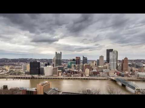 Daytime Timelapse of Downtown Pittsburgh from Mt Washington.