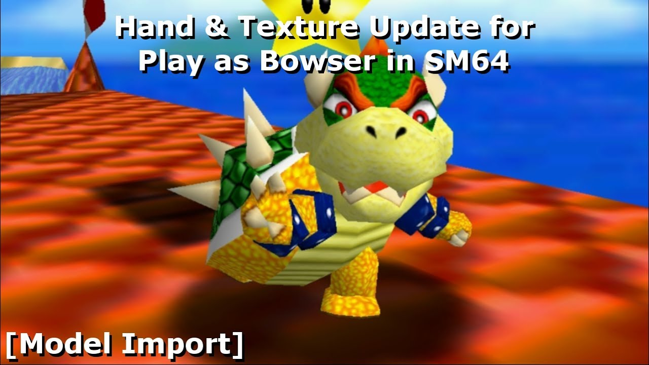 Hand Texture Update For Play As Bowser In Sm64 Model Import