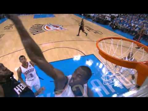 Serge Ibaka Incredible Block On Lebron S Dunk June 14 2012 Youtube