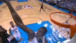 Serge Ibaka incredible block on LeBron's dunk (June 14, 2012)