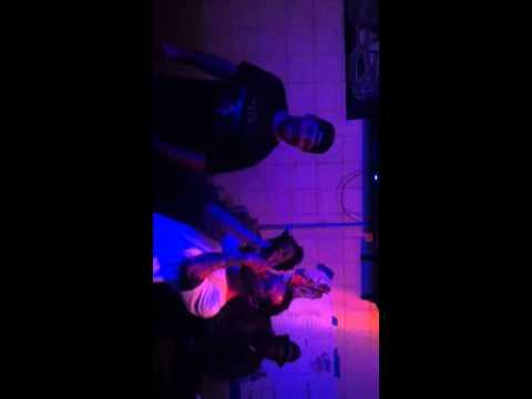 Bryan singing karaoke