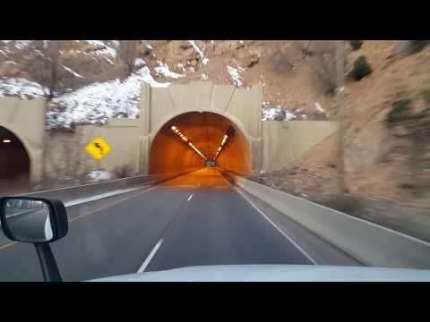 BigRigTravels Glenwood Canyon, Colorado Interstate 70 West -Feb. 27, 2018