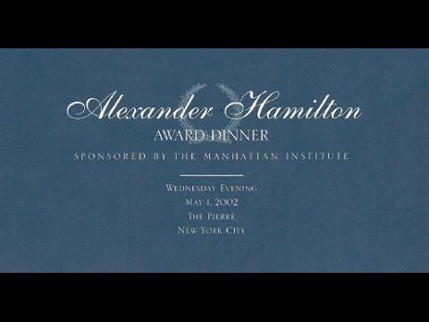 Alexander Hamilton 2002 Award Dinner