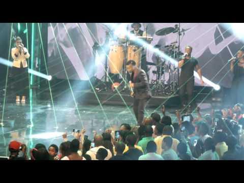 Vincent Bones the winner of Idols SA Season 10 performs at the Season 11 Idols SA finale