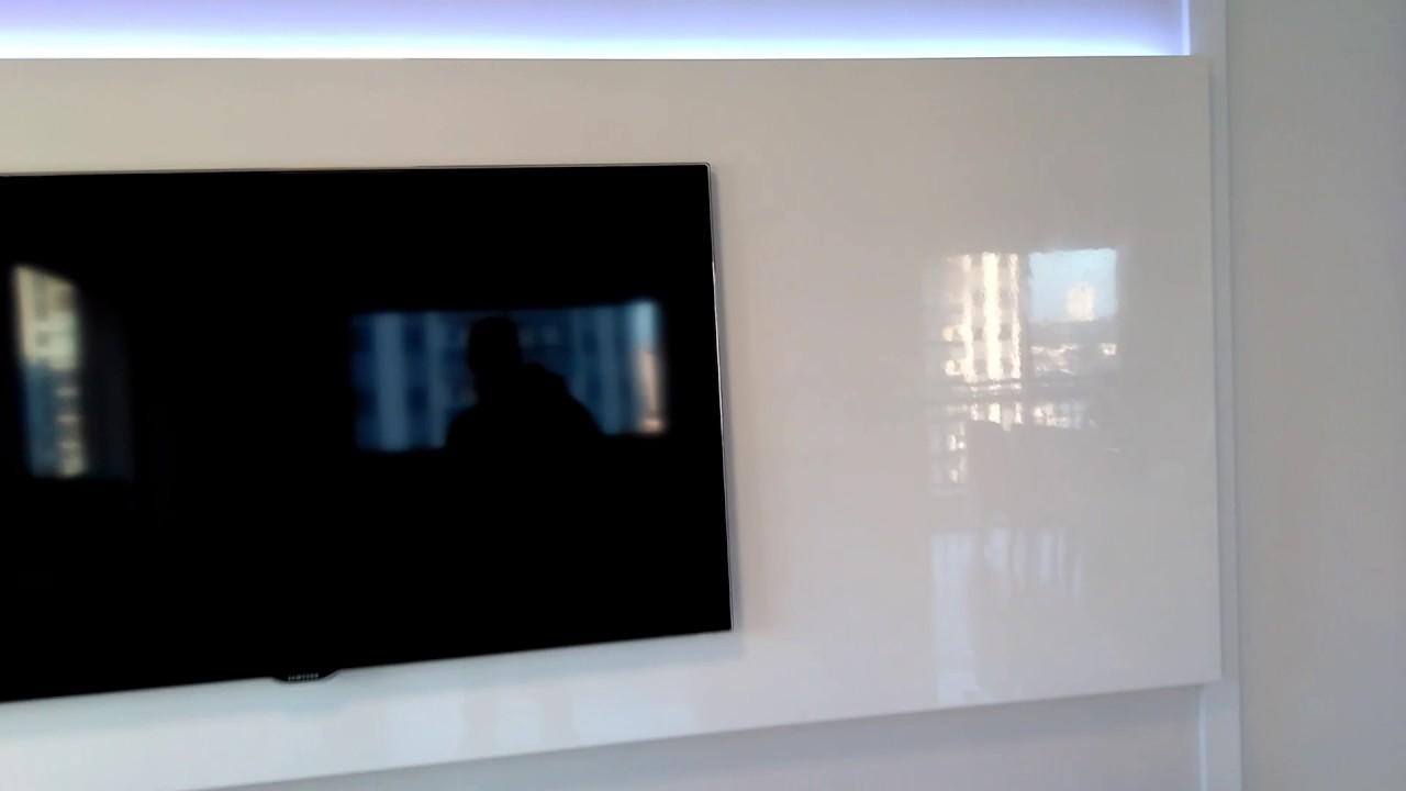 Armario Lavabo Leroy Merlin ~ rack com painel laca branca brilhante part2 YouTube