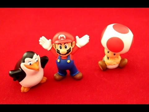 Happy Meal Penguins of Madagascar Mario and Toad