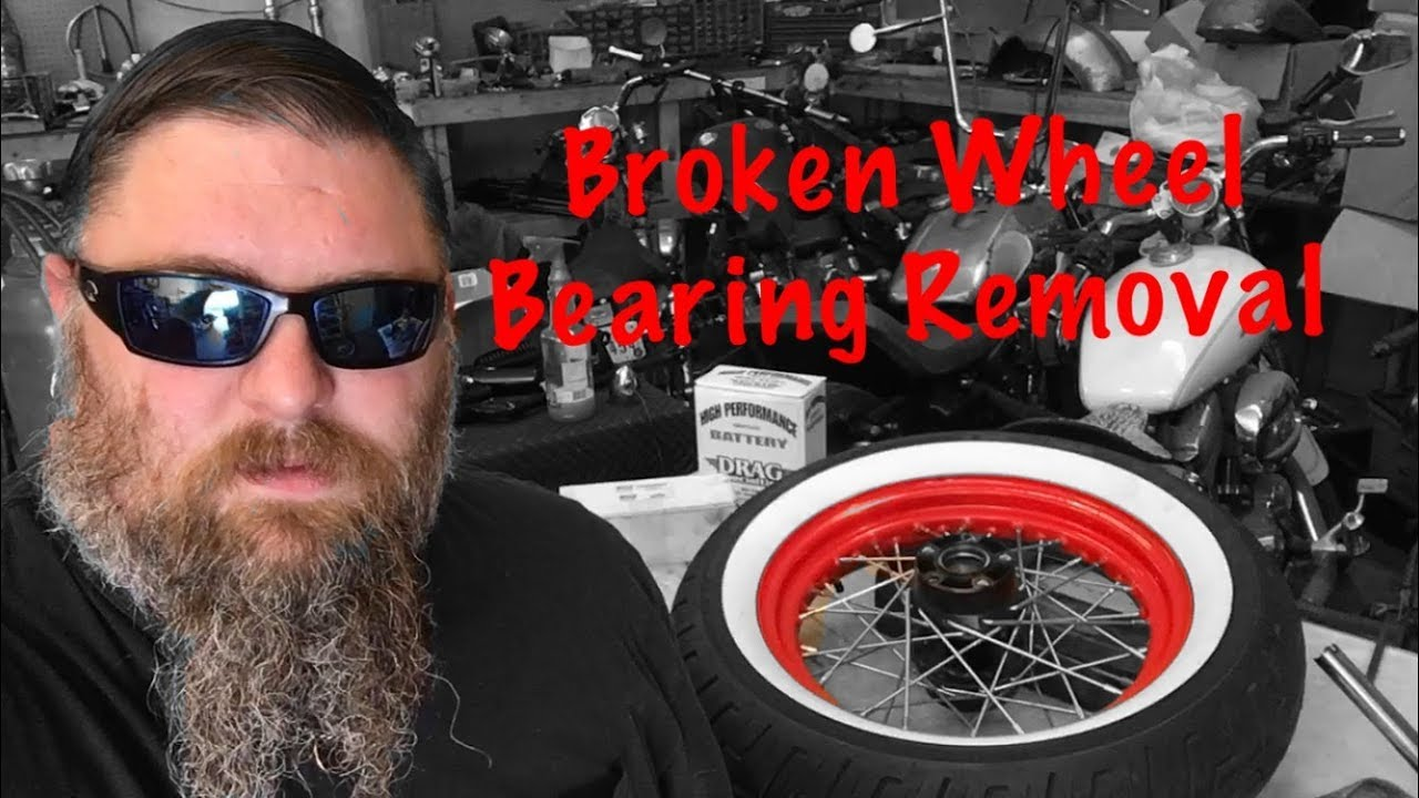 Removing Broken Harley Wheel Bearings