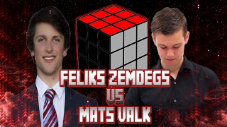 Feliks Zemdegs VS Mats Valk ● 2x2 ● 3x3 ● 4x4 ● 5x5 ● 6x6  ● 3x3 One-Handed